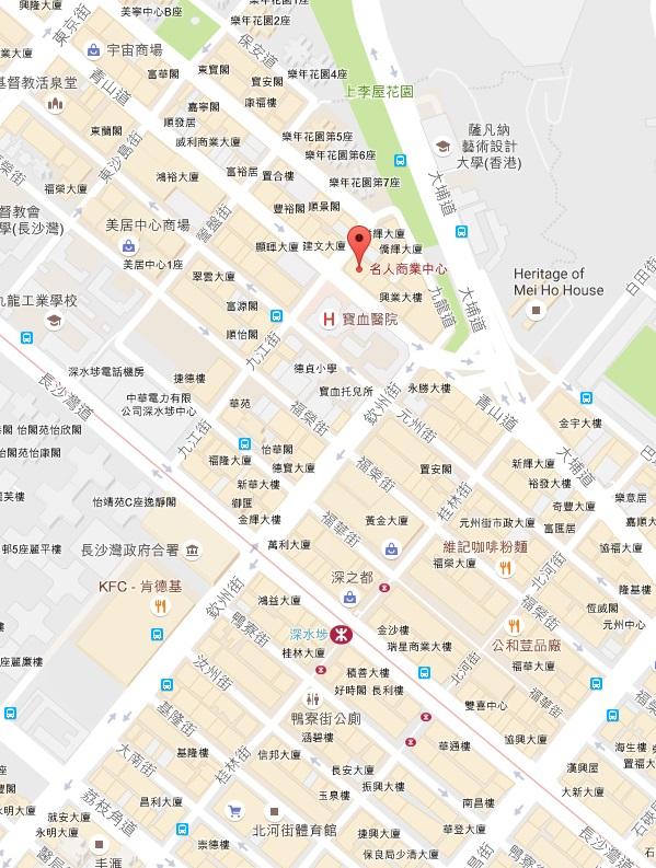名人商業中心地圖